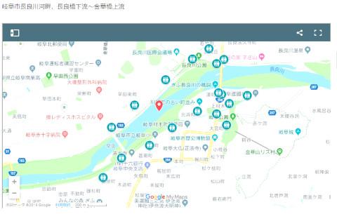 長良川中日花火大会会場